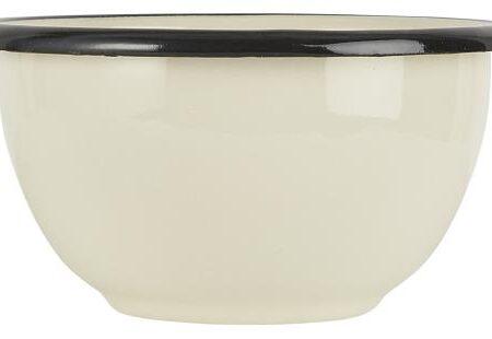 Enamel Bowl in Buttermilk