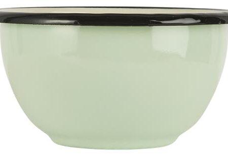 Enamel Bowl in Mint Green