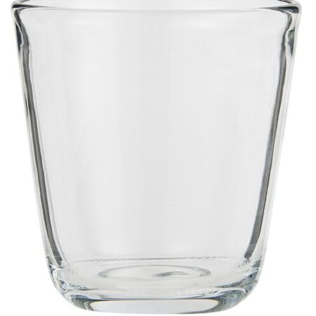 Set of Four Assorted Colour Drinking Glasses: Clear