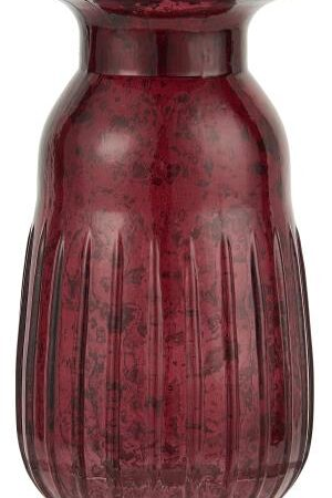 Hyacinth Pebbled Glass Vase in Rhododendron