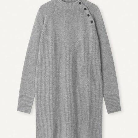 Libertine-Libertine Sunday Knit Dress in Grey Melange
